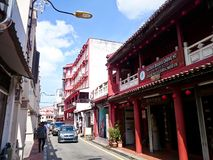 Jonker Street Melaka. MELAKA, MALAYSIA - April 11, 2018 : View around the Jonker Street. Historical road with old building structure. Also known as China town in Royalty Free Stock Image