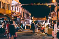 Jonker Street Night Market in Malacca, Malaysia. Malacca, Malaysia - January 5, 2018 : Jonker Street Night Market Royalty Free Stock Images