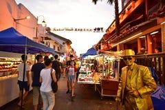 Jonker ulica w Malacca Zdjęcia Stock