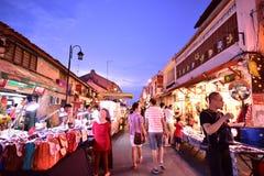 Jonker ulica w Malacca Zdjęcie Royalty Free