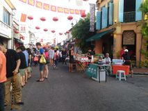Jonker Walk in Melaka Stock Photo