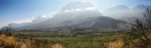 Jonkershoek panoramico fotografia stock libera da diritti