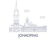 Jonkoping Le costruzioni più famose della città Fotografia Stock