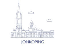 Jonkoping. The most famous buildings of the city Stock Photo