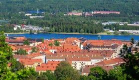Jonkoping stad sweden arkivbild