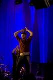Jonny Buckland van Coldplay royalty-vrije stock afbeeldingen