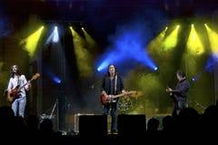 Jonny Kaplaan. Jonny Kaplan American rock singer in concert Stock Photo