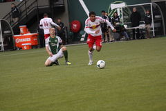 Jonny Steele. Stole the ball from the Portland Timbers Royalty Free Stock Photography