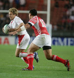 Jonny Wilkinson. Running during the qualification round of the Rugby World Cup 2007 between Tonga and England at the Parc des Prince on Spetember 28, 2007 in Stock Photos