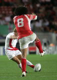 Jonny Wilkinson. Try a drop the qualification round of the Rugby World Cup 2007 between Tonga and England at the Parc des Prince on Spetember 28, 2007 in Paris Royalty Free Stock Image