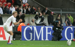Jonny Wilkinson. Try a penalty during the qualification round of the Rugby World Cup 2007 between Tonga and England at the Parc des Prince on Spetember 28, 2007 Stock Photography