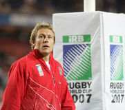 Jonny Wilkinson. At training before the qualification round of the Rugby World Cup 2007 between Tonga and England at the Parc des Prince on Spetember 28, 2007 Royalty Free Stock Photos