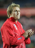 Jonny Wilkinson. At trainingbefore the qualification round of the Rugby World Cup 2007 between Tonga and England at the Parc des Prince on Spetember 28, 2007 in Stock Image