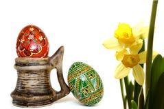 Jonquil ed uova fotografia stock