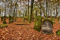 Joodse begraafplaats Royalty-vrije Stock Afbeelding