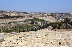 Joodse begraafplaats. Jeruzalem Stock Afbeelding