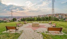 Joodse begraafplaats in Pristina Stock Foto