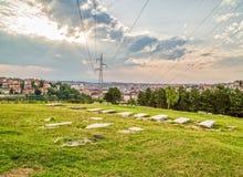 Joodse begraafplaats in Pristina Stock Foto's