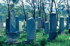 Joodse cementery Stock Foto