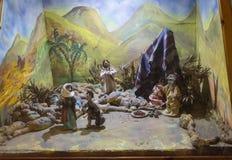 Joodse familie onder een tent poppen Stock Fotografie