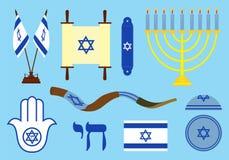 Joodse gekleurde symbolen vector illustratie
