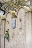 Joodse Gettomuur, Krakau, Polen stock foto's