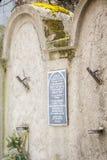 Joodse Gettomuur, Krakau, Polen royalty-vrije stock afbeeldingen