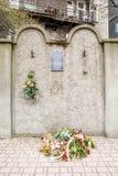 Joodse Gettomuur, Krakau, Polen stock foto