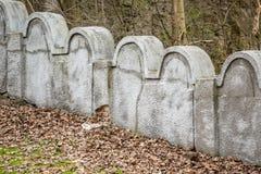 Joodse Gettomuur, Krakau, Polen royalty-vrije stock foto's