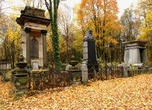 Joodse graven en grafzerken stock foto's