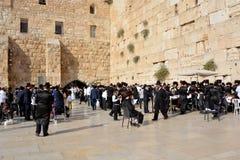 Joodse hasidic bidt Stock Afbeeldingen