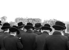 Joodse Joden, judaism, hasidim, gebed, rug, erachter royalty-vrije stock foto