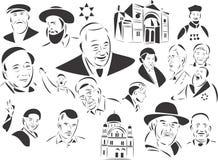 Joodse Mensen stock illustratie