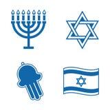 Joodse pictogrammen. Stock Afbeeldingen