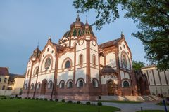Joodse synagoge in Subotica, Servië royalty-vrije stock foto's