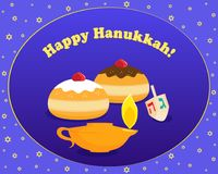 Joodse vakantie van Chanoeka, Gelukkige Chanoeka vector illustratie