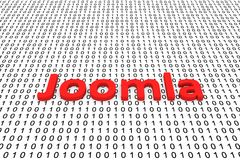 Joomla. In the form of binary code, 3D illustration Royalty Free Stock Images