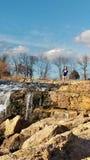 Joplin Missouri Christina Farino Waterfall in primavera fotografie stock