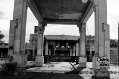 Joplin Union Depot- black and white Royalty Free Stock Photos