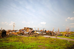 Joplin (US)after the EF 5 Tornado on 22nd May 2011. On May, 22, a huge EF 5 tornado abolishes the town of Joplin, in Missouri. Several casualties and big damage stock photos