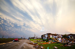 Joplin (US)after the EF 5 Tornado on 22nd May 2011. On May, 22, a huge EF 5 tornado abolishes the town of Joplin, in Missouri. Several casualties and big damage royalty free stock photos