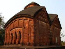 Jor Bangla寺庙在Bishnupur 免版税库存照片