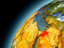 Jordânia da órbita de Earth modelo Fotografia de Stock Royalty Free