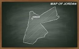 Jordânia no quadro-negro Fotografia de Stock