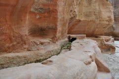 jordão Rochas A estrada à cidade antiga Petre Foto de Stock Royalty Free
