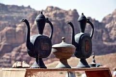 jordão Rochas A estrada à cidade antiga Petre Imagens de Stock Royalty Free