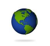 jord för 3d Amerika landar den norr södra sikten Arkivfoto