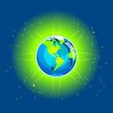 jord för Amerika strålkontinentar Arkivfoton