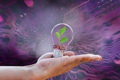 Jord för ekologibegreppsräddning royaltyfri foto