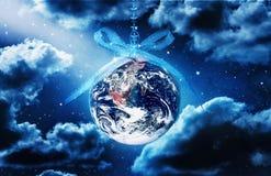 Jord för hopp för världsjulfred royaltyfri bild